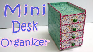 Diy Desk Organizer How To Make A Mini Desk Organizer Ana Diy Crafts Youtube