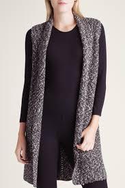 Kensie Clothing Size Chart Kensie Black Combo Cotton Tweed Sweater Vest