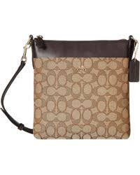 COACH - Signature North south Swingpack (light khaki brown) Cross Body