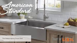 The Pekoe Apron Front Kitchen Sink From American Standard Youtube