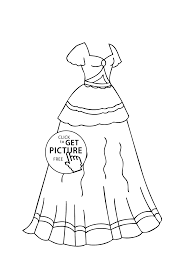 Small Picture Dress coloring page for girls printable free coloing 4kidscom