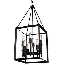 cage chandelier lighting vineyard 8 light open cage chandelier in matte black by industrial cage lighting