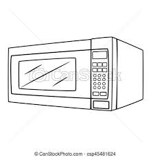 microwave clipart. illustration of isolated microwave oven cartoon drawing - csp45481624 clipart