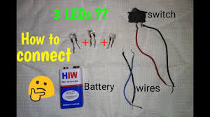 How To Wire Multiple Led Lights To One Switch How To Connect Multiple Leds With Switch Easy Circuit Diy
