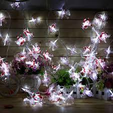 Fiber Optic Blossom Led String Lights Wholesale Us Stock 10m 60 Leds Santa Claus Shaped Fiber Optic Led String Christmas Fairy Lights Lighting Colorful Lights For Xmas Party De String Lamp