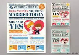 Wedding Invitation Newspaper Template Newspaper Journal Wedding Invitation Template Wedding