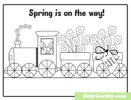 Spring Coloring Pages Printable Spring Break Coloring Page Free