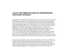could the american war of independence have been avoided a  document image preview