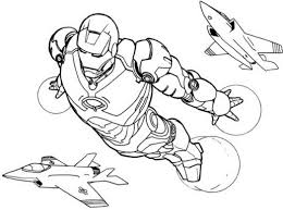 iron man flying coloring pages