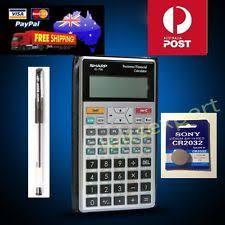 sharp el 738. 100% new` sharp business financial calculator el-738 +1 extra battery + el 738