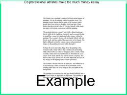 example essay speech visit report