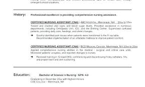 Certified Nursing Assistant Resume Awesome Cna Resume Templates