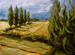 tuscany painting tuscan landscape by outre art natalie eisen
