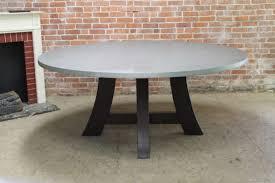 round zinc table w pedestal base elegantly casual