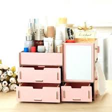 diy makeup organizer wooden office table storage box handmade cosmetic organizer case makeup organizer jewelry container
