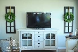 Tv Stand Decor New Windows In The Sunroom And Decorating Around The Tv Home By Ally