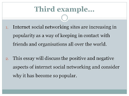 introductions and conclusions ppt video online 8 third example internet social networking