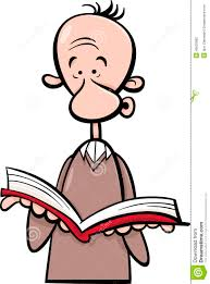 man with book cartoon ilration
