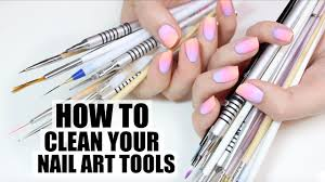 HOW I CLEAN MY NAIL ART TOOLS - YouTube