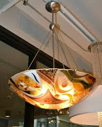 fun lighting fixtures. beautiful fused glass light fixture by bonnie rubinstein fun lighting fixtures