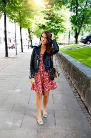 even in summer a leather jacket is still the ideal match to almost every casual style