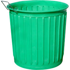 Carry Barrel 60-Gallon Green Outdoor Garbage Can