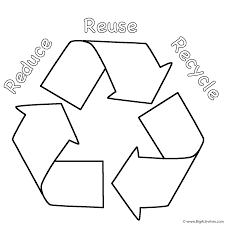 Small Picture Reduce Reuse Recycle Coloring Page Earth Day