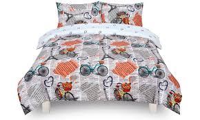 bedding vintage paris white single duvet cover