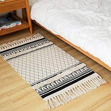 black cotton area rug the bazaarist