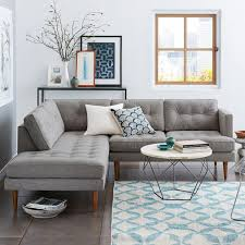 small corner furniture. west elm peggy midcentury terminal chaise sectional small corner furniture o
