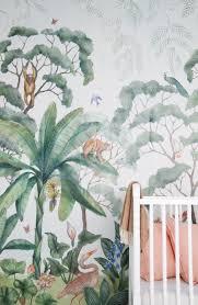 Lulu Georgia Jungle Wallpaper Mural Nursery Kids Wallpaper