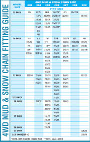 Security Chain Tire Chains Size Chart Scc Tire Chains Size Chart Qmsdnug Org