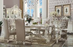 dining room table set. Acme Versailles 7-Piece Rectangular Dining Set In Bone White · Room Table