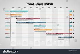 Graphic Design Timetable Vector Illustration Of Project Schedule Timetable