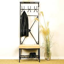 Small Coat Rack Stand Mudroom Entry Bench Coat Hanger Entryway With Rack And Shoe 2