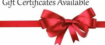 Holiday Gift Certificates Holiday Gift Certificate Promotion Aspasias Studio