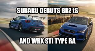 2018 subaru sti ra. plain subaru meet the 2018 subaru brz ts and wrx sti type ra with subaru sti ra i