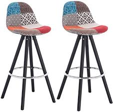 WOLTU <b>Bar Stools</b> Set of <b>2 pcs Barstools</b> Multicolor Patchwork ...