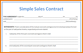 sales contracts sample 7 sales agreement template itinerary template sample