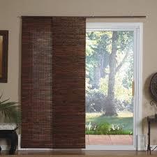 patio door panel track blinds new cindy crawford costa sliding bamboo window door panels treatments