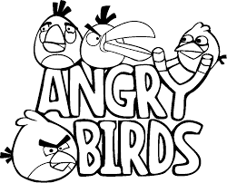 angry bird coloring pages for kids free printable coloring