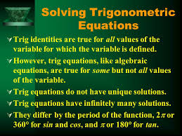 1 solving trigonometric