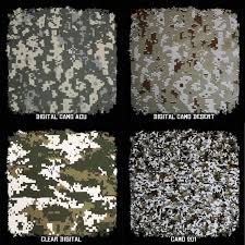 Camo Patterns Classy Film SAMPLE Pack W Activator Digital Camo Patterns