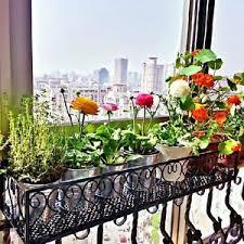 Image is loading Flower-Pot-Rack-Holder-Balcony-Hanging-Stand-Plant-