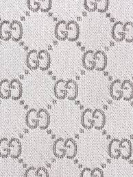 Gucci Pattern Inspiration Lyst Gucci Gg Pattern Tie In Metallic For Men