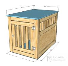 How to make a dog crate Dog Kennel Filled All The Pocket Holes With Wood Filler Three Times And Let Dry Then Sanded With 120 Grit Sandpaper Still Need To Paint Ana White Ana White Large Wood Pet Kennel End Table Diy Projects