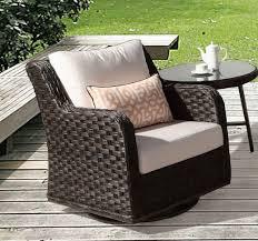 canyon lake resin wicker swivel glider chair dark brown