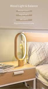 1pc Hot 5w 5v Led Usb Charging Table Balance Wood Lamp Creative