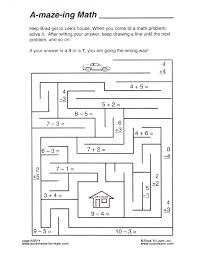 free printable math worksheets mazes full size