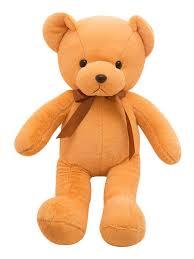 Teddy Bear Design Soft Toy Cute Bear Doll Solid Color Sweet Simple Design Doll Toy